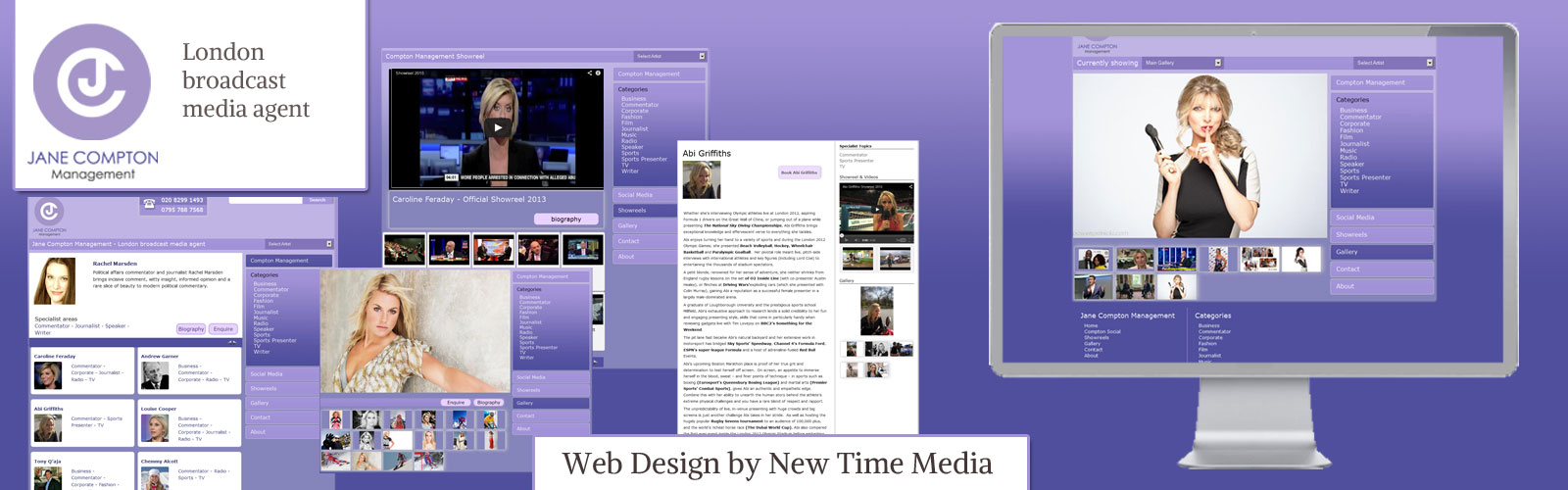 Website Design of Compton Management by New Time Media