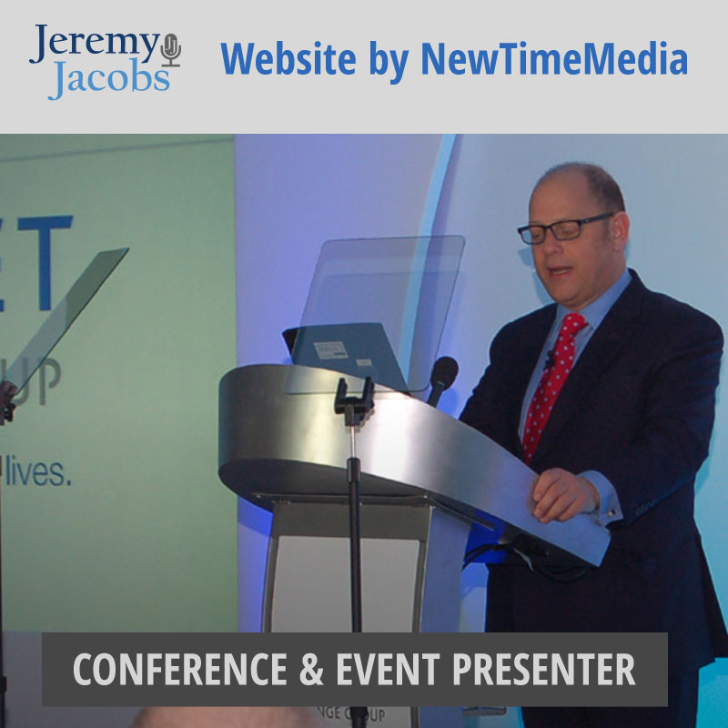 Website design of Jeremy Jacobs Event host