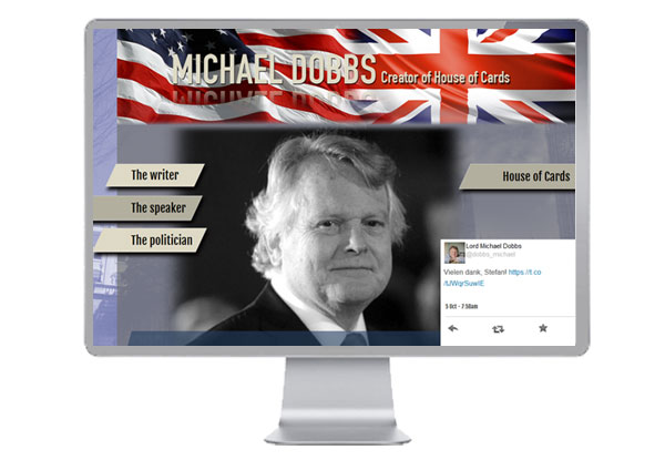 Lord Michael Dobbs Website Link