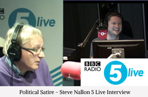Political Satire - Steve Nallon Interview Five Live