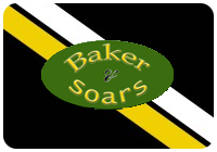 Black, yellow and white logo of baker and soars plumbing supplies